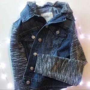 Jessica Simpson cropped denim jacket